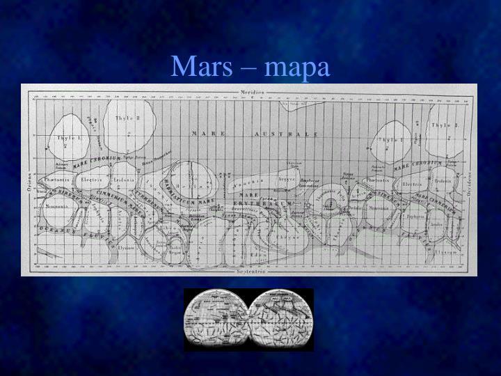Mars – mapa
