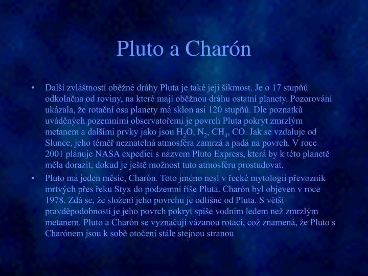 Pluto a Charón