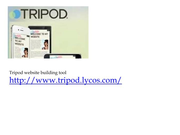Tripod website building tool