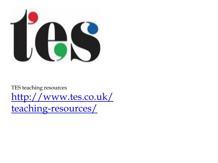 TES teaching resources