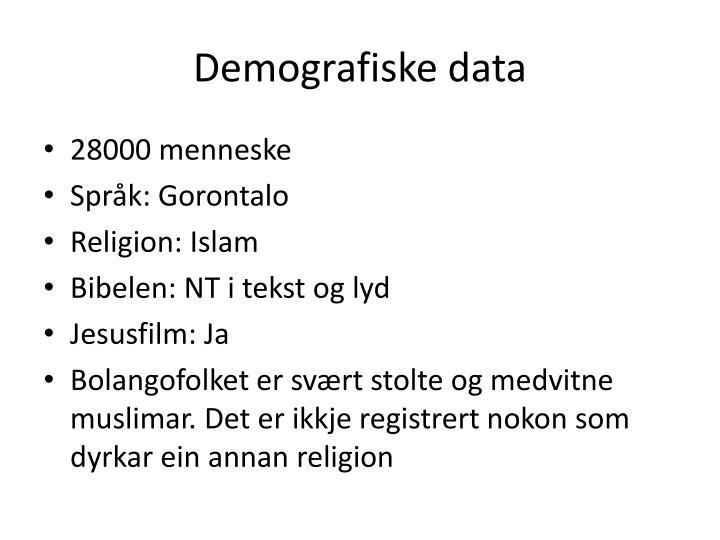 Demografiske data