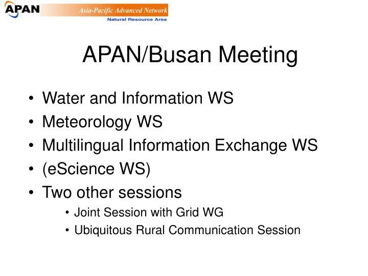 APAN/Busan Meeting