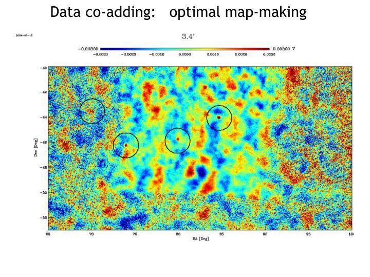 Data co-adding:   optimal map-making