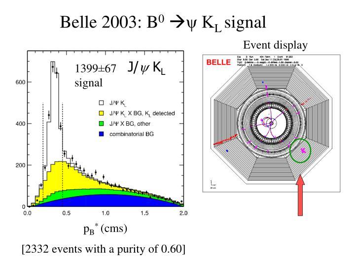 Belle 2003: B
