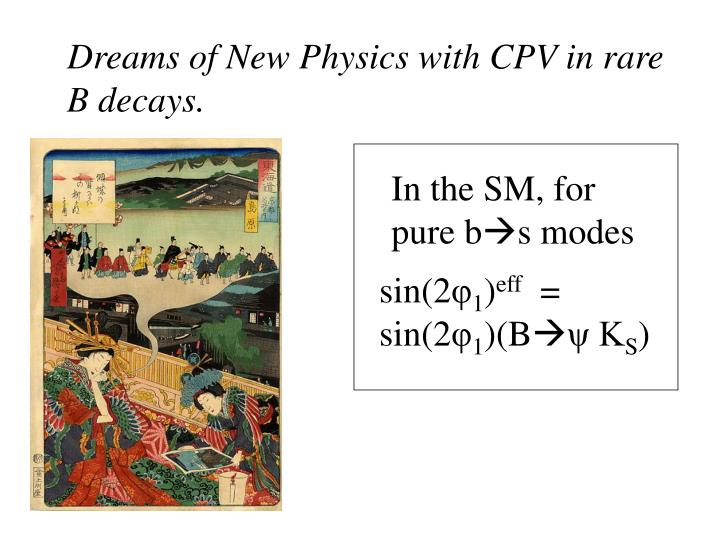 Dreams of New Physics with CPV in rare B decays.