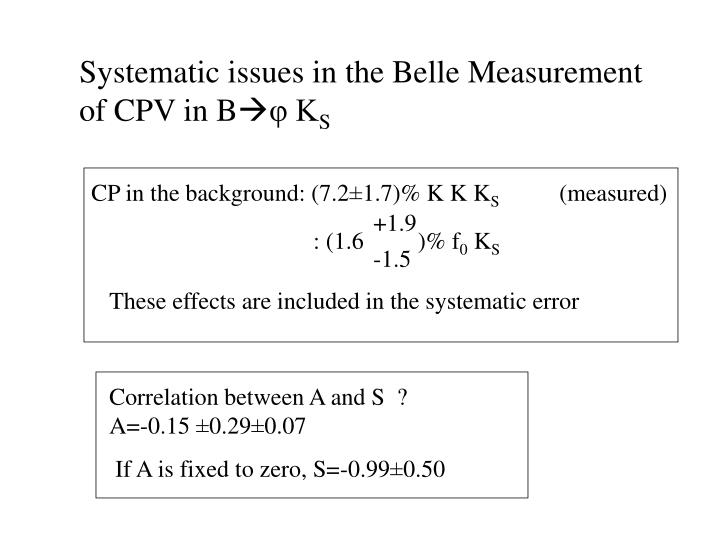 Systematic issues in the Belle Measurement of CPV in B