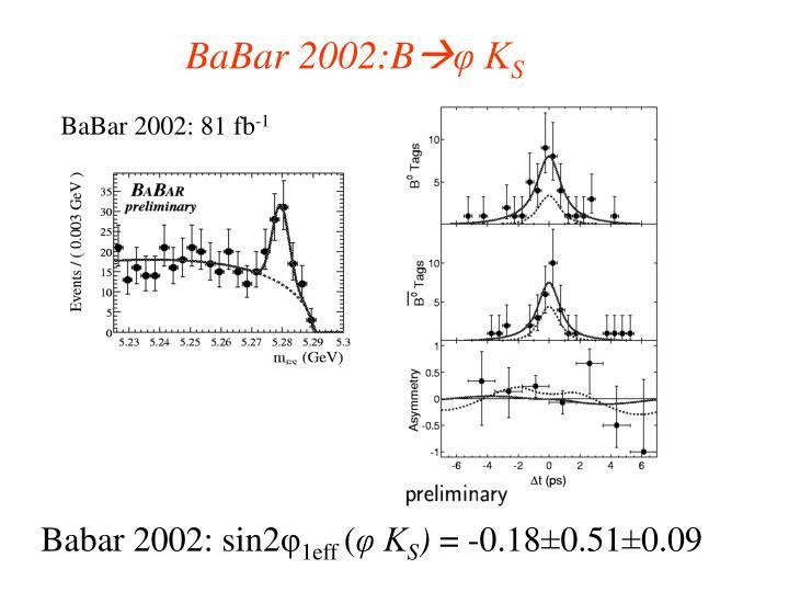 BaBar 2002:B