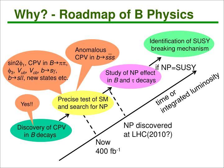 Why? - Roadmap of B Physics