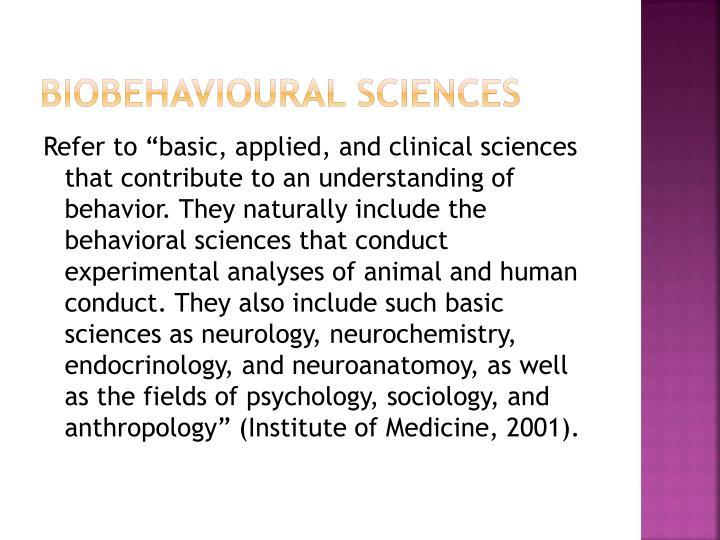 Biobehavioural
