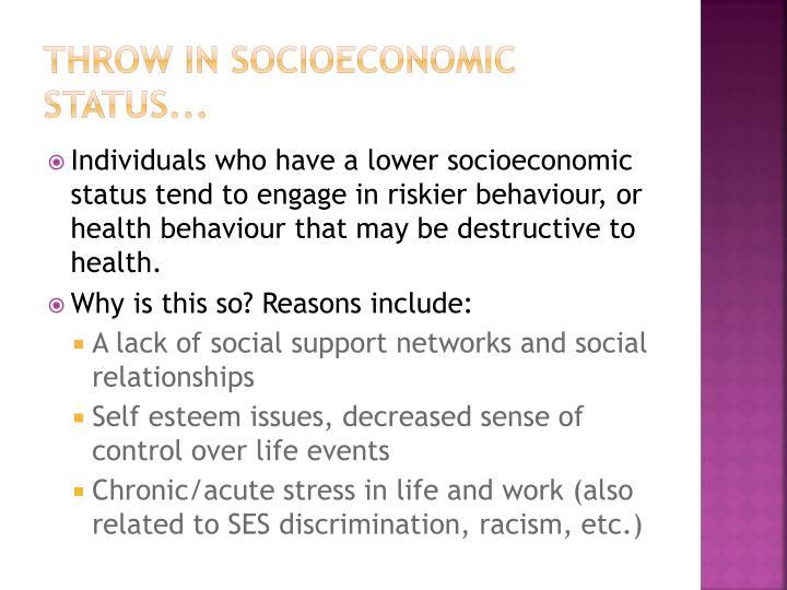 Throw in socioeconomic status...