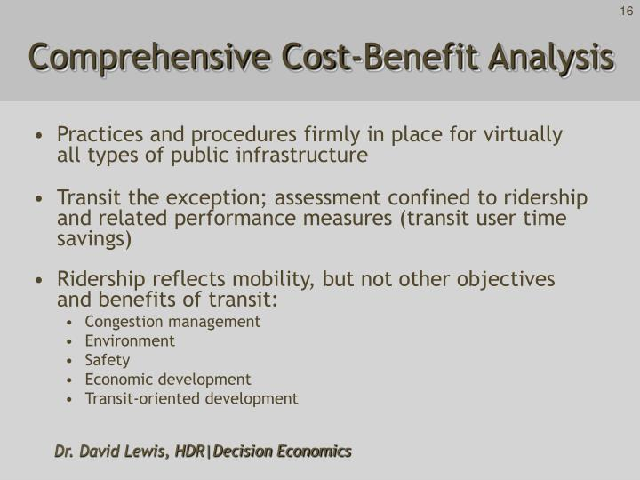 Comprehensive Cost-Benefit Analysis