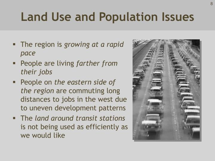 Land Use and Population Issues