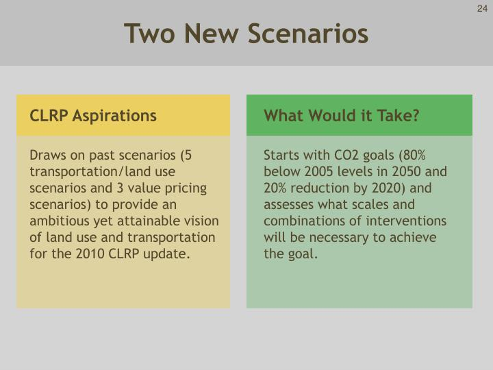 Two New Scenarios
