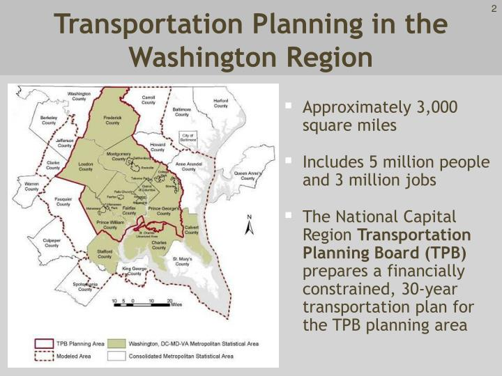 Transportation planning in the washington region
