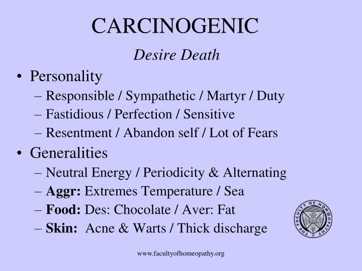 CARCINOGENIC