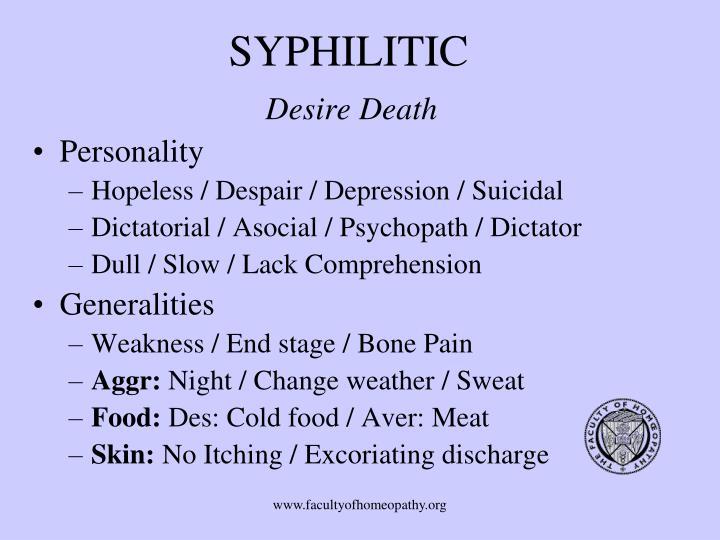 SYPHILITIC