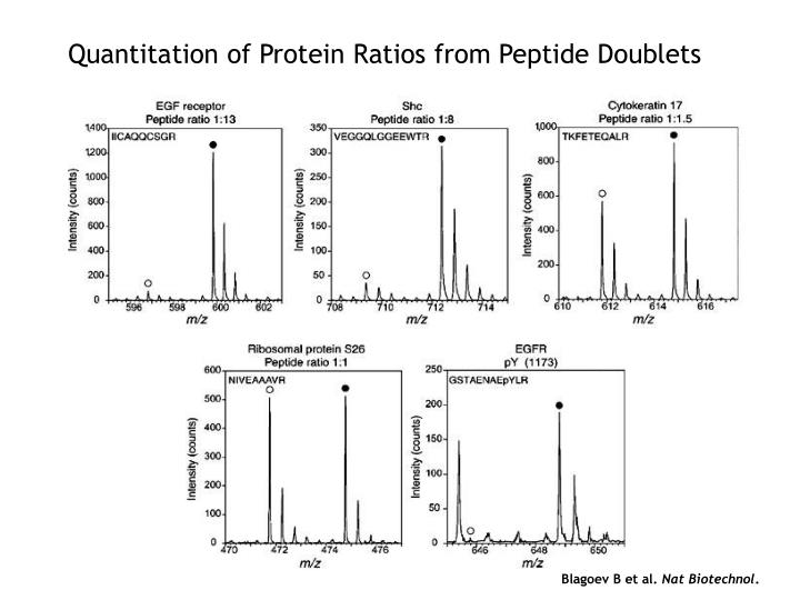 Quantitation of Protein Ratios from Peptide Doublets