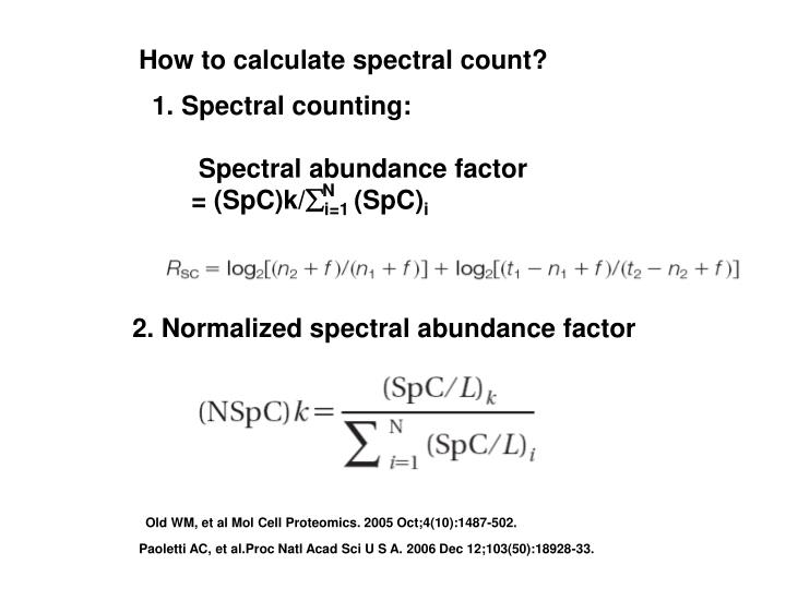 How to calculate spectral count?