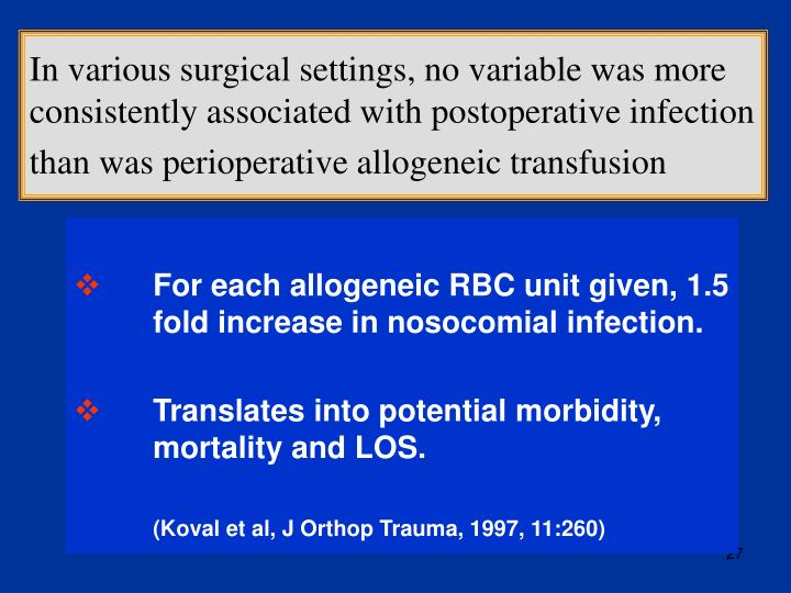 In various surgical settings, no variable was more