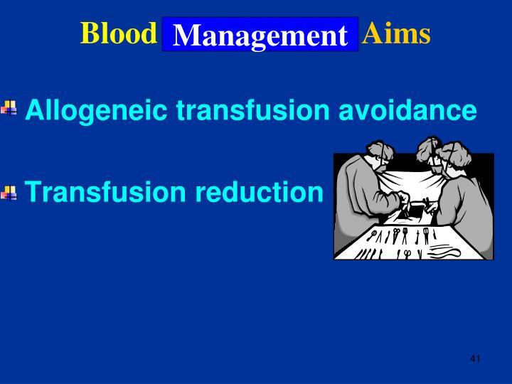 Blood Conservation: