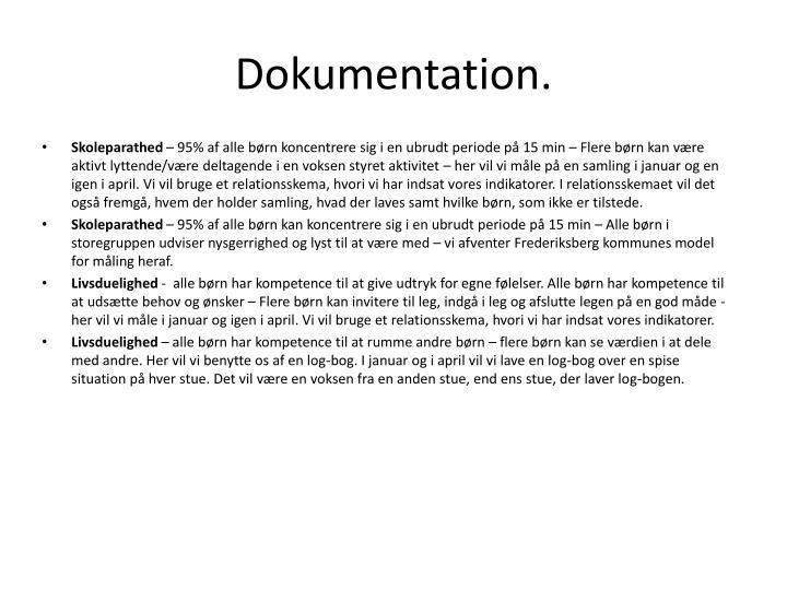 Dokumentation.