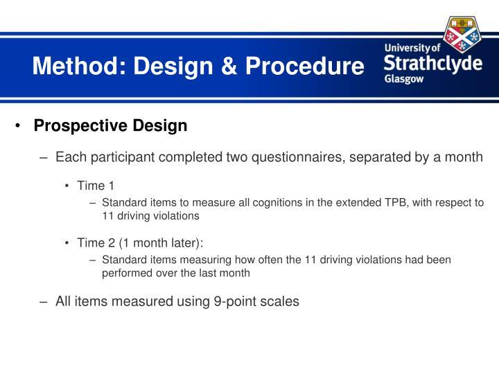 Method: Design & Procedure