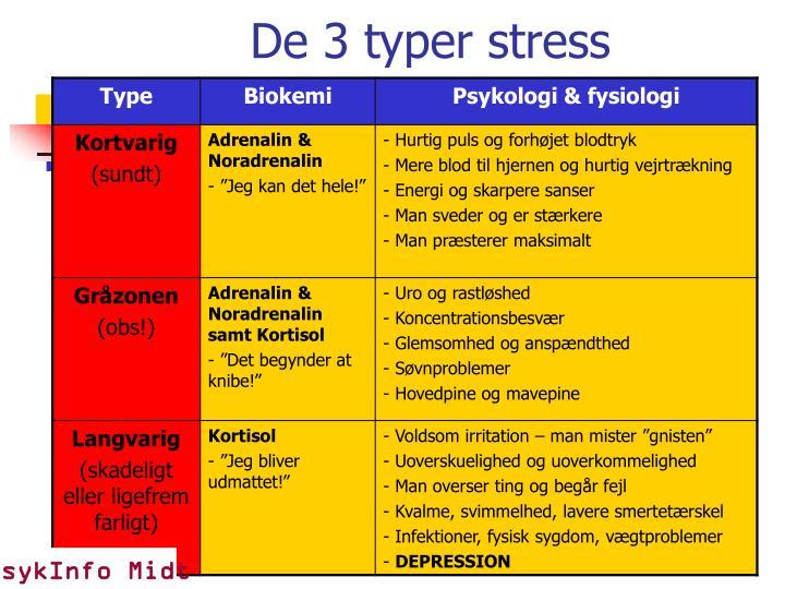 De 3 typer stress