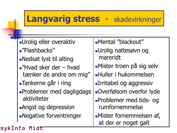 Langvarig stress