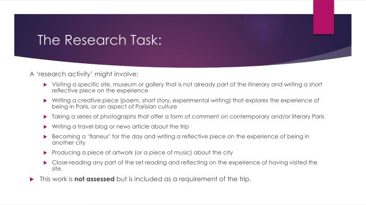 The Research Task: