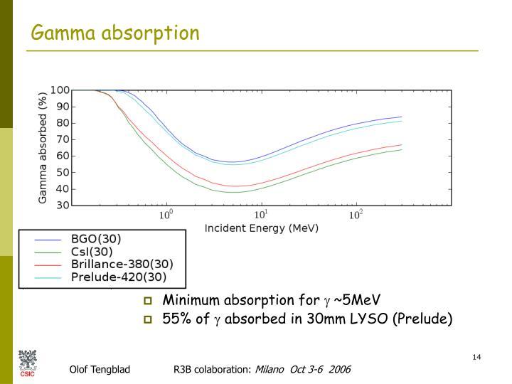 Gamma absorption