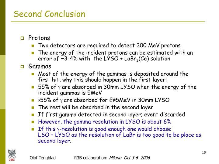 Second Conclusion