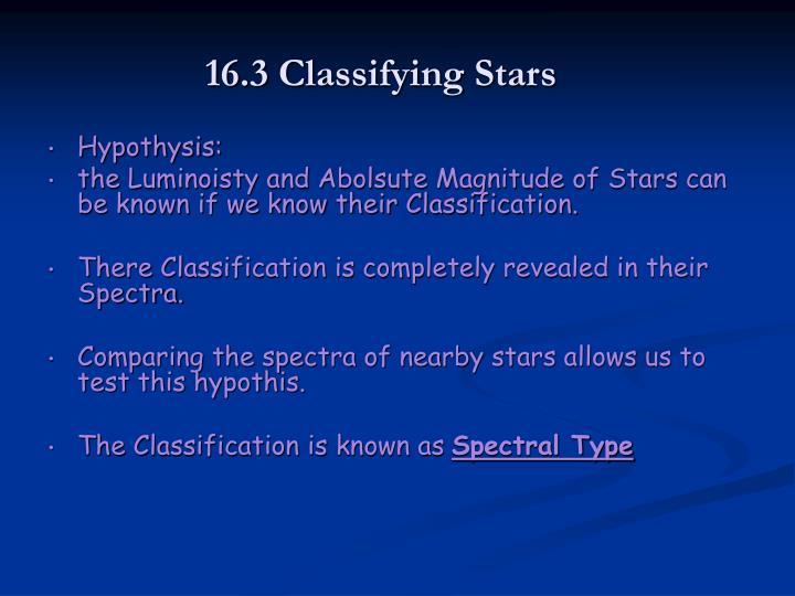 16.3 Classifying Stars