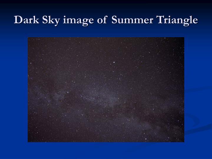 Dark Sky image of Summer Triangle