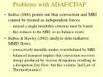 problems with adaf cdaf