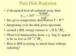 thin disk radiation