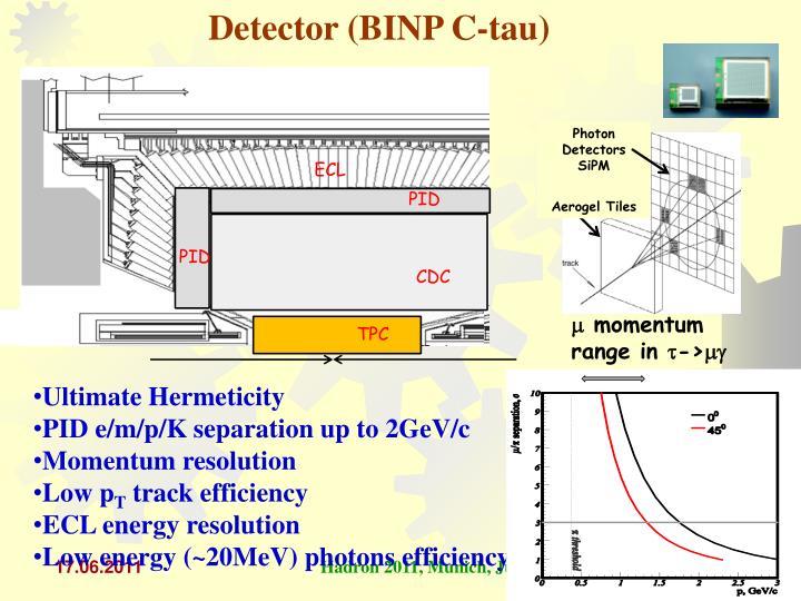 Detector (BINP C-tau)