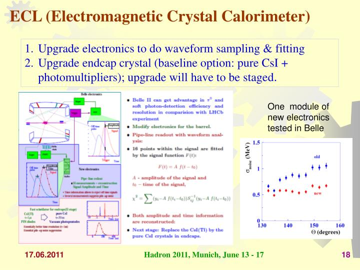 ECL (Electromagnetic Crystal Calorimeter)