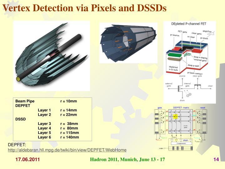 Vertex Detection via Pixels and DSSDs