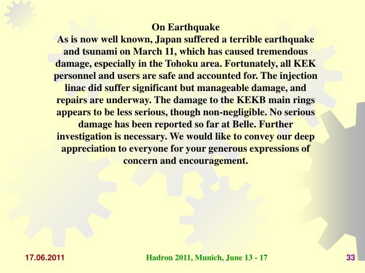 On Earthquake