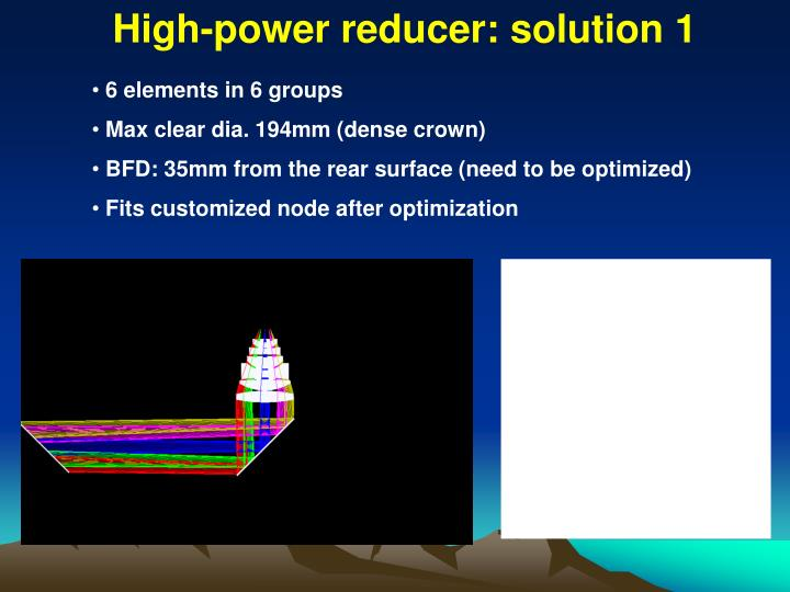 High-power reducer: solution 1
