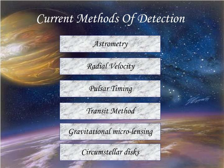 Current Methods Of Detection