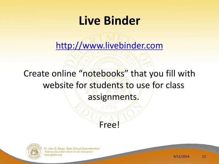 Live Binder