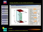 energy calculation i input window specifications