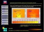 indicative experimental results iii illumination levels