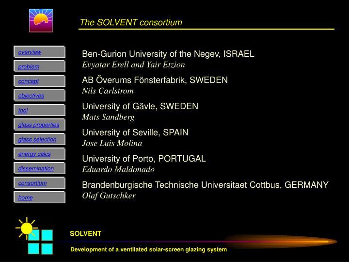 The SOLVENT consortium