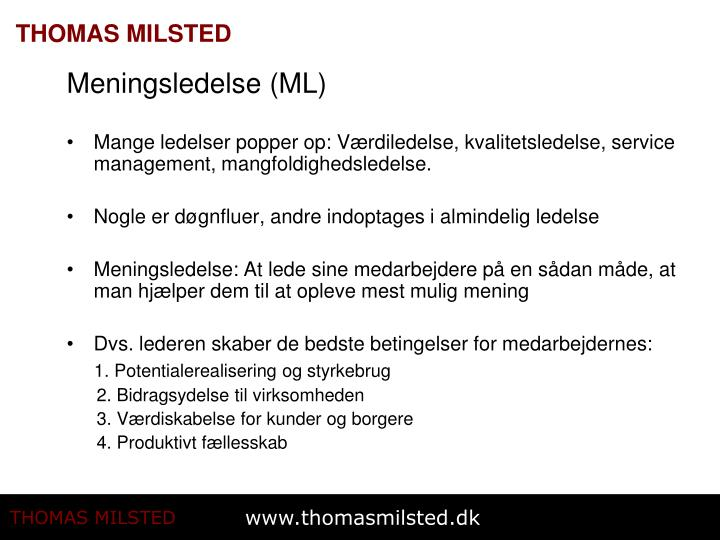 Meningsledelse (ML)
