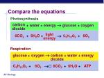 compare the equations