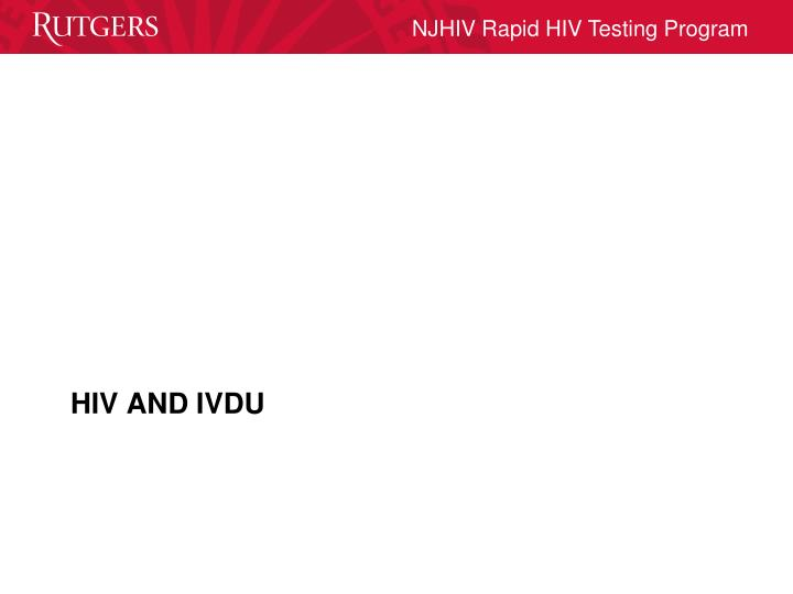 HIV AND IVDU