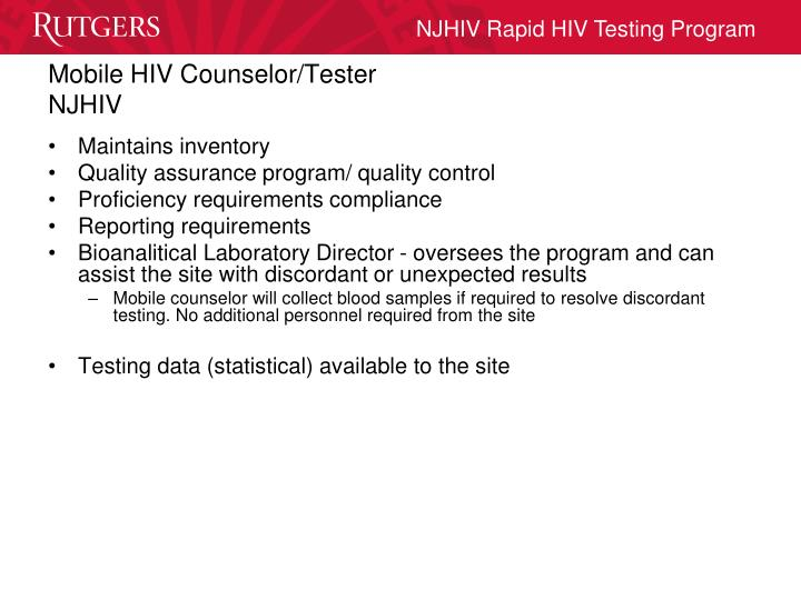 Mobile HIV Counselor/Tester