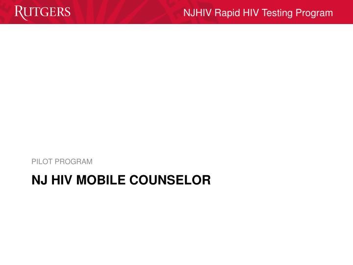 NJ HIV MOBILE COUNSELOR